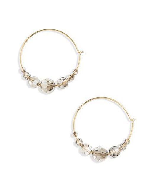 Chan Luu   Metallic Graduated Crystal Hoop Earrings   Lyst