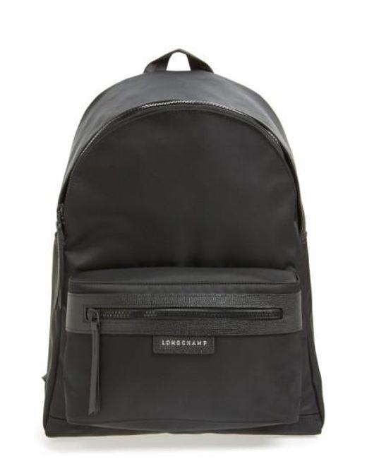 Longchamp   Black 'le Pliage Neo' Nylon Backpack   Lyst