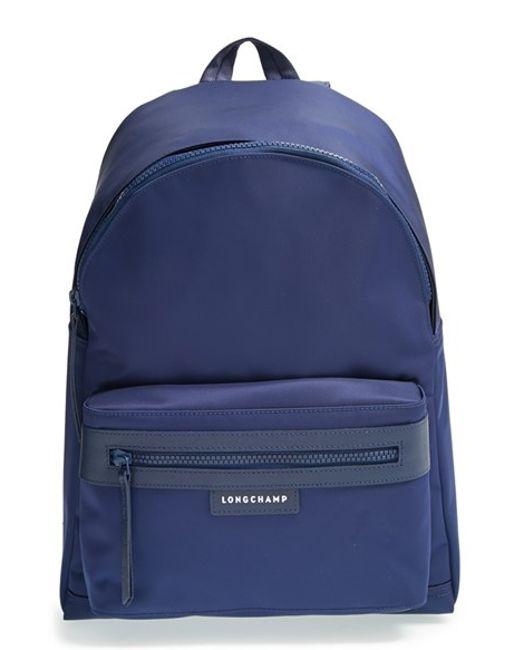 Longchamp   Blue 'le Pliage Neo' Nylon Backpack   Lyst