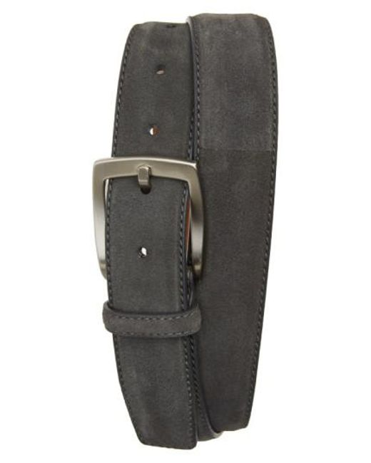 Magnanni Shoes | Gray Crosta Suede Belt for Men | Lyst