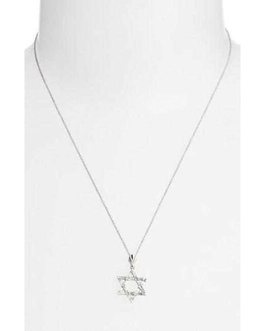 Bony Levy | Metallic Diamond Star Of David Pendant Necklace (nordstrom Exclusive) | Lyst