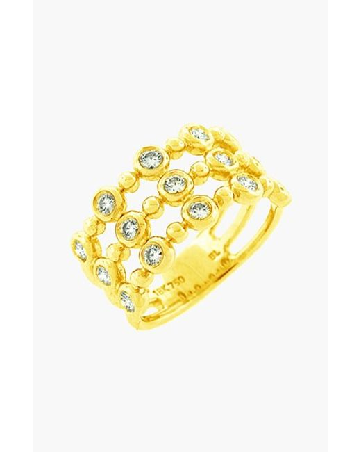 Bony Levy | Yellow Amara Diamond Three-row Stack Ring (nordstrom Exclusive) | Lyst