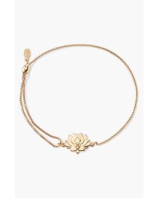 ALEX AND ANI | Metallic 'providence - Lotus Peace' Pull Chain Bracelet | Lyst