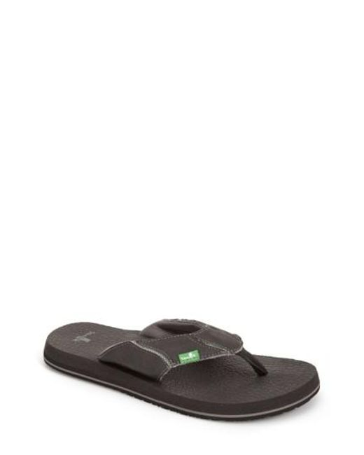Sanuk | Gray 'fault Line' Flip Flop for Men | Lyst