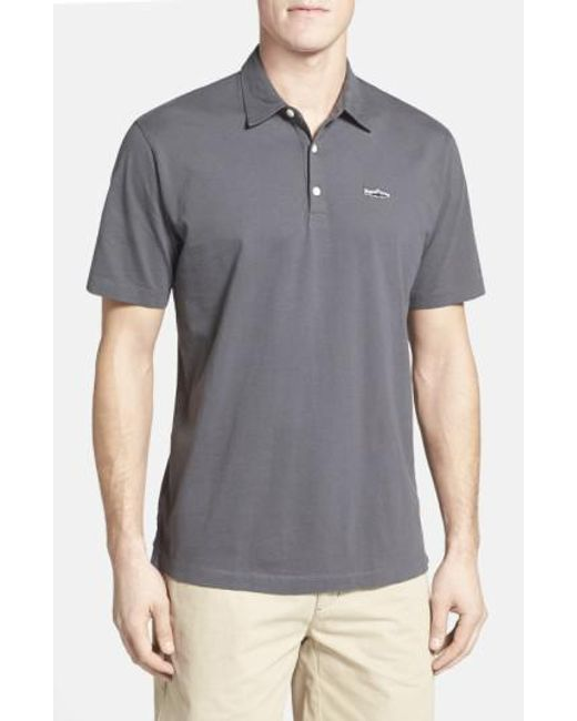 Patagonia | Gray 'trout Fitz Roy' Organic Cotton Polo for Men | Lyst