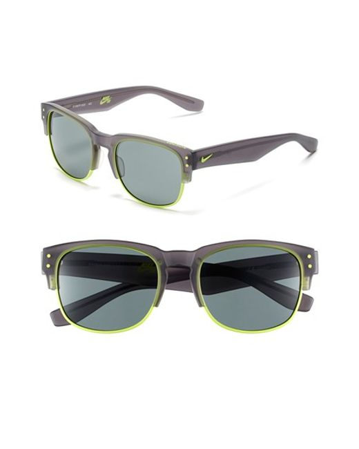 Nike | Gray Volition 54mm Sunglasses | Lyst