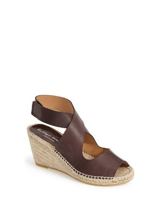 Bettye Muller | Brown 'mobile' Leather Wedge Espadrille Sandal | Lyst