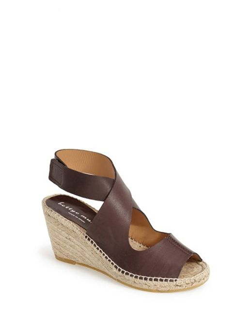 Bettye Muller | Natural 'mobile' Leather Wedge Espadrille Sandal | Lyst