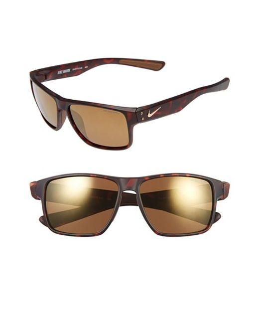 Nike | Brown 'mavrk' 59mm Sunglasses | Lyst
