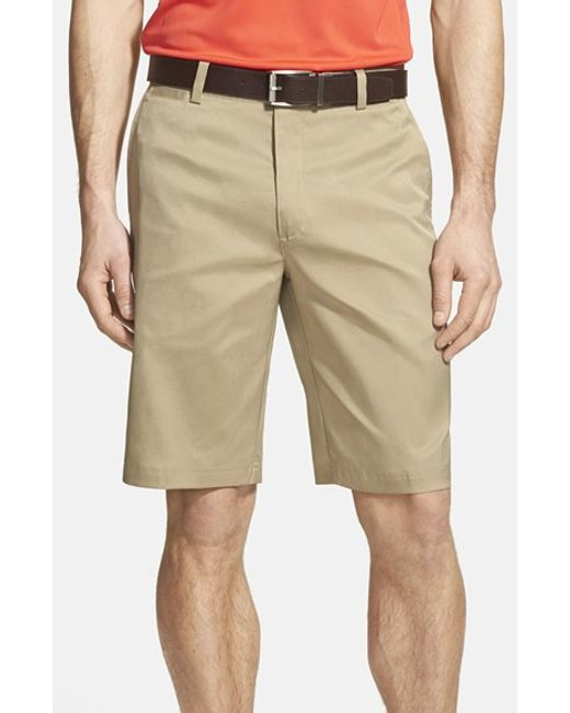 Nike | Natural Flat Front Golf Shorts for Men | Lyst
