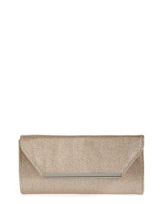 Glint | Pink Metallic Envelope Clutch | Lyst