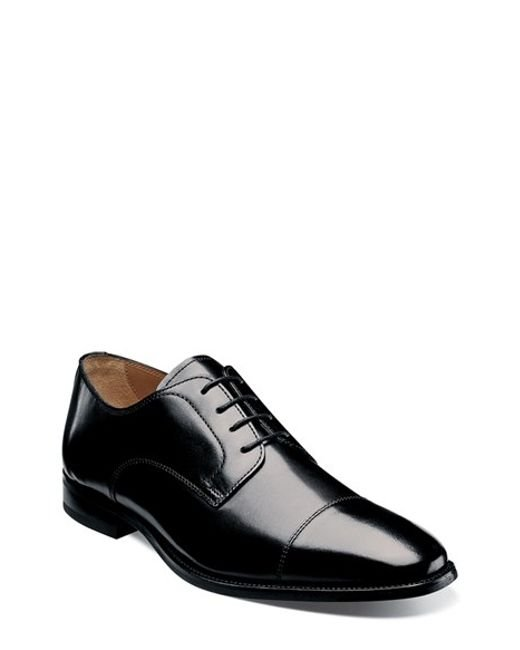 Florsheim | Black 'sabato' Cap Toe Derby for Men | Lyst