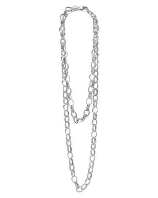 Lagos | Metallic 'link' Caviar Chain Necklace | Lyst