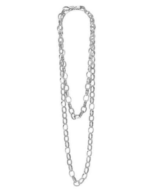 Lagos | Metallic 'link' Caviar Chain Necklace | Lyst