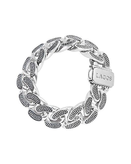 Lagos | Metallic 'link' Caviar Curb Link Bracelet | Lyst