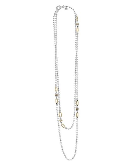 Lagos | Metallic Caviar Layered Necklace | Lyst