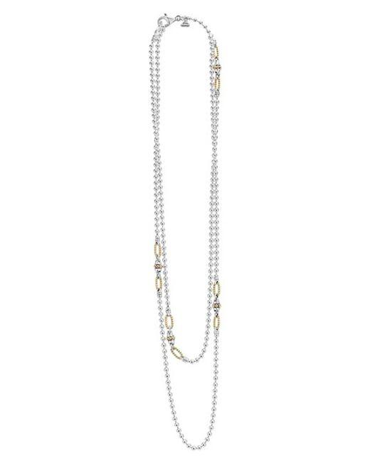 Lagos | Metallic Caviar Layered Necklace | Lyst