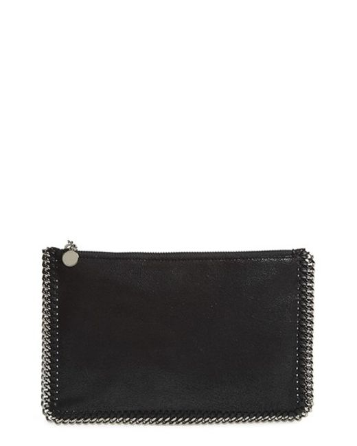 Stella McCartney | Black 'falabella' Faux Leather Pouch With Convertible Strap | Lyst