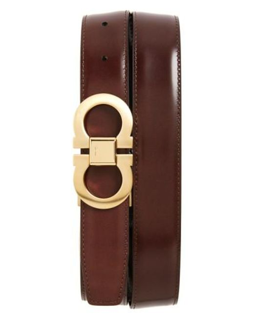 Ferragamo | Brown Reversible Belt for Men | Lyst