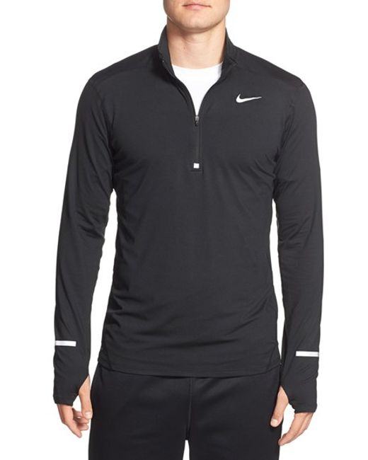Nike | Black 'element' Dri-fit Quarter Zip Running Top for Men | Lyst