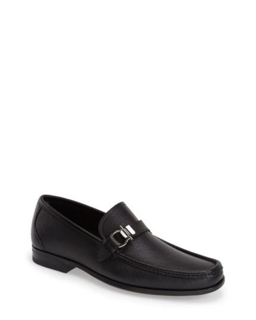 Ferragamo | Black Muller Calfskin Loafers for Men | Lyst