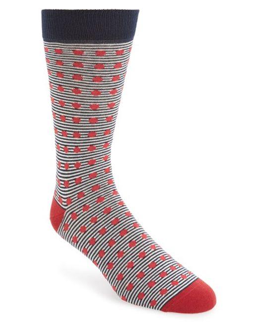 Ted Baker | Orange Stripe & Spot Socks for Men | Lyst
