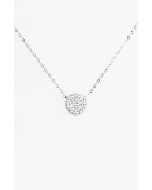 Nadri | Metallic 'geo' Small Pendant Necklace | Lyst