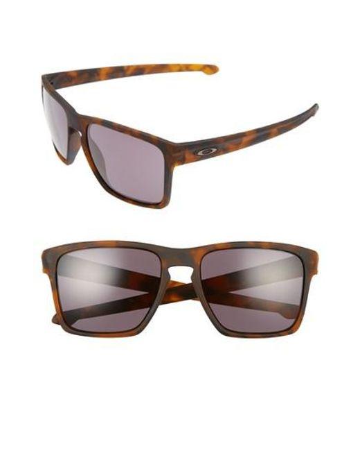 Oakley - Brown Silver Xl 57mm Sunglasses for Men - Lyst