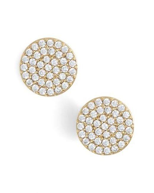 Nadri   Metallic 'geo' Stud Earrings   Lyst