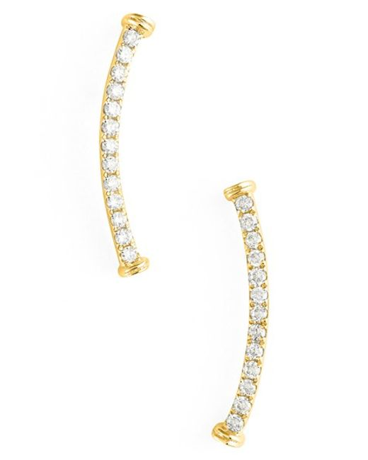 Bony Levy | Yellow Diamond Curve Bar Earrings (nordstrom Exclusive) | Lyst
