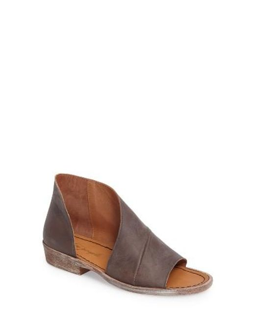 Free People | Brown 'mont Blanc' Asymmetrical Sandal | Lyst