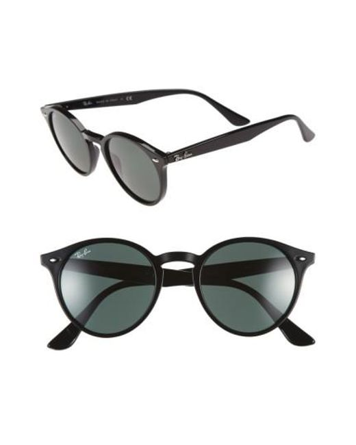 Ray-Ban | Black Highstreet 49mm Round Sunglasses | Lyst