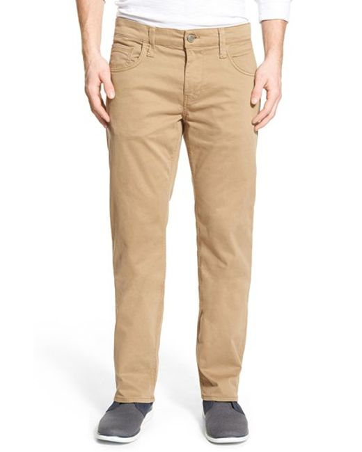 Mavi Jeans | Natural 'zach' Straight Leg Twill Pants for Men | Lyst