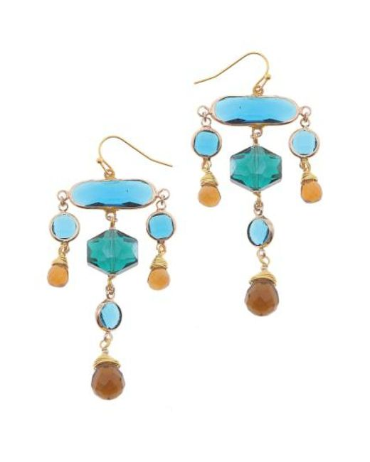 Nakamol - Blue Crystal Statement Earrings - Lyst