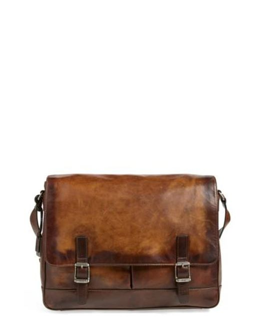 Frye | Brown 'oliver' Leather Messenger Bag for Men | Lyst