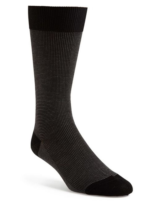Pantherella 'tewkesbury' Cotton Lisle Mid Calf Dress Socks ...