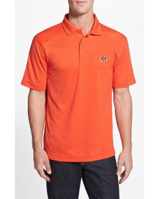 Cutter & Buck | Orange 'cincinnati Bengals - Genre' Drytec Moisture Wicking Polo for Men | Lyst
