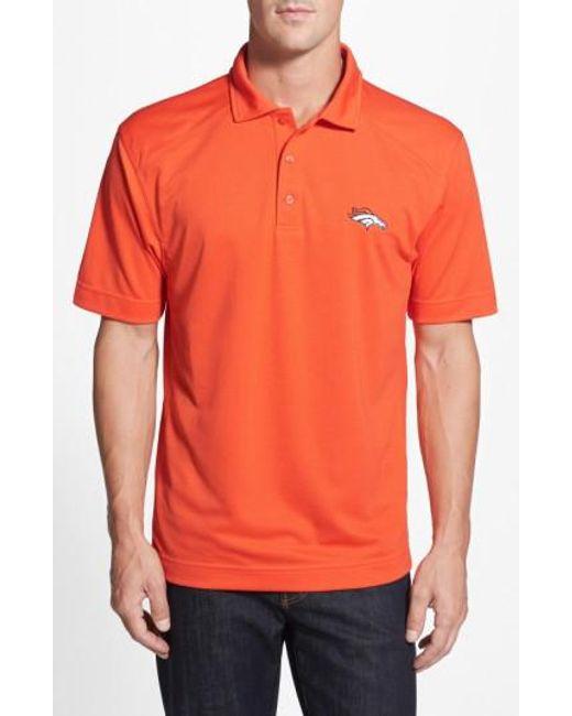 Cutter & Buck | Orange 'Denver Broncos - Genre' Drytec Moisture Wicking Polo for Men | Lyst
