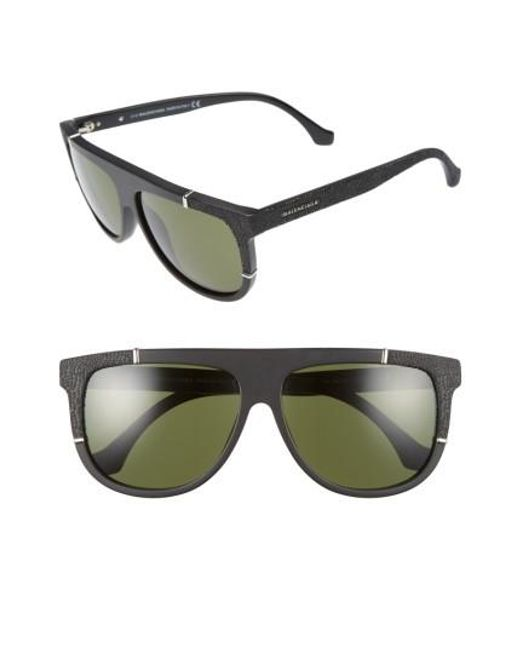Balenciaga | Green 58mm Flat Top Sunglasses | Lyst