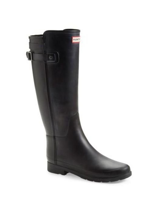 Hunter | Black 'original Refined' Rain Boot | Lyst
