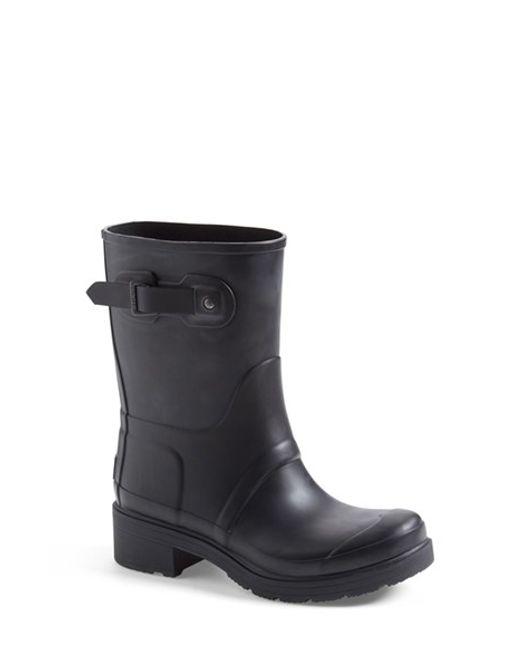 Hunter   Black 'original' Waterproof Ankle Rain Boot   Lyst
