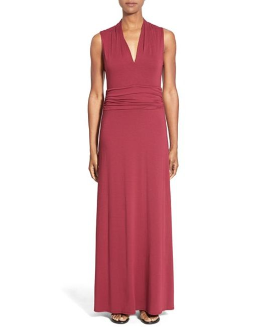 Vince Camuto | Black V-neck Maxi Dress | Lyst