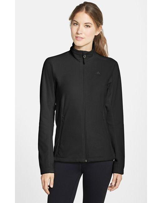 Adidas Originals | Black 'reachout' Polar Fleece Jacket | Lyst