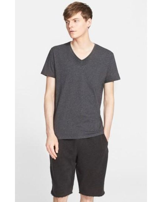 ATM | Gray Cotton Jersey V-neck T-shirt for Men | Lyst