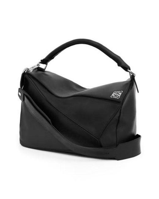 Loewe   Black Puzzle Large Leather Bag   Lyst