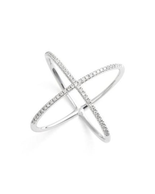Bony Levy | White Crossover Diamond Ring (nordstrom Exclusive) | Lyst