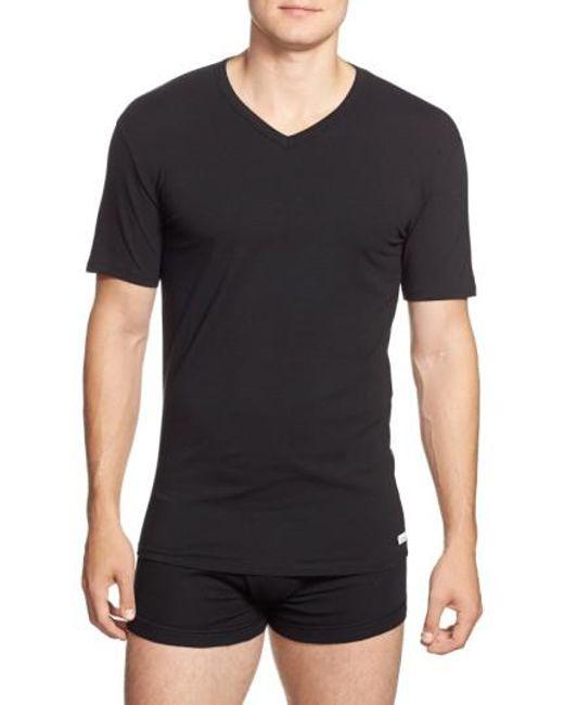 Calvin Klein   2-pack Stretch Cotton T-shirt, Black for Men   Lyst