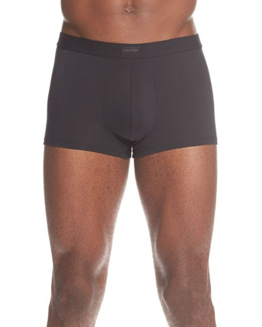 Calvin Klein | Black Modal Blend Low Rise Trunks for Men | Lyst