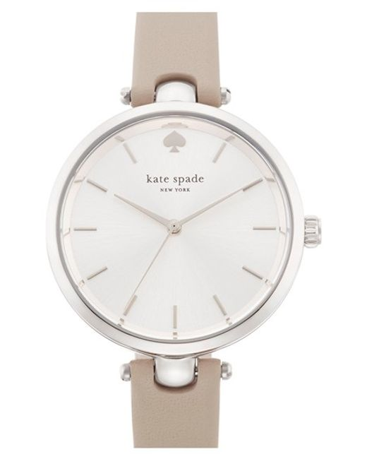 kate spade new york | Gray 'holland' Round Watch | Lyst