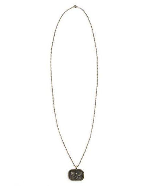 Link Up | Black Eagle Pendant Necklace - Oxidized Brass for Men | Lyst
